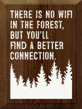 There is no wifi in the forest, but you'll find a better connection