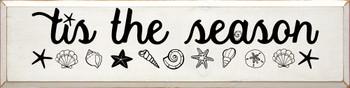 Tis The Season with Seashells | Coastal Christmas Wood Signs | Sawdust City Wood Signs