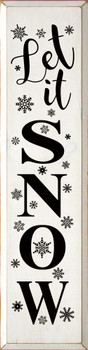 Let It Snow (9x36)  Christmas Wood Signs   Sawdust City Wood Signs
