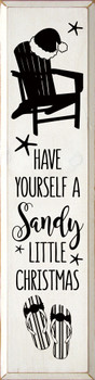 Have yourself a sandy little Christmas| Coastal Christmas Wood Signs | Sawdust City Wood Signs