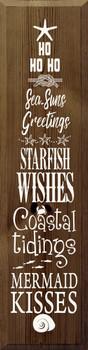 Ho ho ho sea-suns greetings, starfish wishes, coastal tidings..