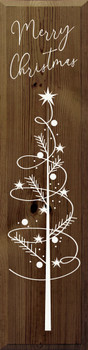 Merry Christmas with Swirly Tree | Wood Christmas Signs | Sawdust City Wood Signs