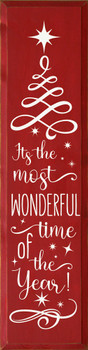 It's The Most Wonderful Time  Of The Year | Wood Christmas Sign | Sawdust Wood Sign