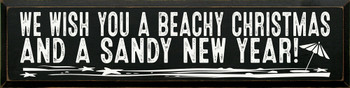 We Wish You A Beachy Christmas | Wood Sign With Beach Christmas Sayings | Sawdust City Wood Signs