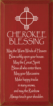 May the warm winds of heaven blow softly upon your house.. | Cherokee Blessing Wood Sign| Sawdust City Wood Signs
