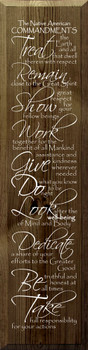The Native American Commandments | Wood Sign With Saying | Sawdust City Wood Sign