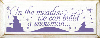 Shown in Old Cottage White with Purple lettering