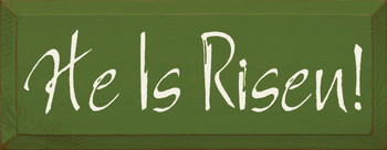 He Is Risen!  |Easter Wood Sign | Sawdust City Wood Signs