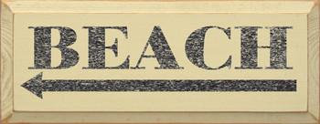 Beach (leftarrow)  |Beach Wood Sign| Sawdust City Wood Signs