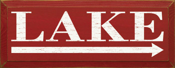 Lake (rightarrow) |Lake Wood Sign With Arrow | Sawdust City Wood Signs