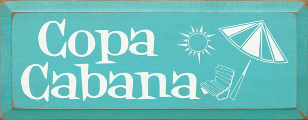 Copa Cabana |Wood Sign | Sawdust City Wood Signs