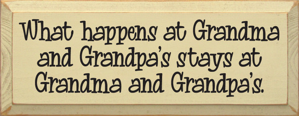 What happens at Grandma and Grandpa's stays at Grandma and Grandpa's
