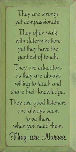 They are strong, yet compassionate... |Teachers Wood Sign| Sawdust City Wood Signs