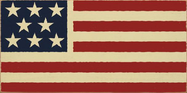 American Flag (image)  USA Wood Sign  Sawdust City Wood Signs