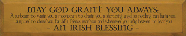 May God Grant You Always: A sunbeam to warm you..|Irish Blessing Wood Sign| Sawdust City Wood Signs