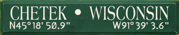 City Name with custom Latitude & Longitude Coordinates |Wood Sign With Coordinates| Sawdust City Wood Signs