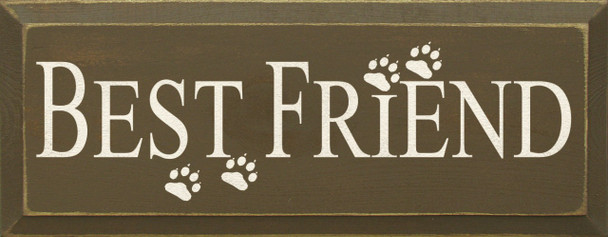 Best Friend With Paw Prints |Cats & Dogs Wood Sign| Sawdust City Wood Signs