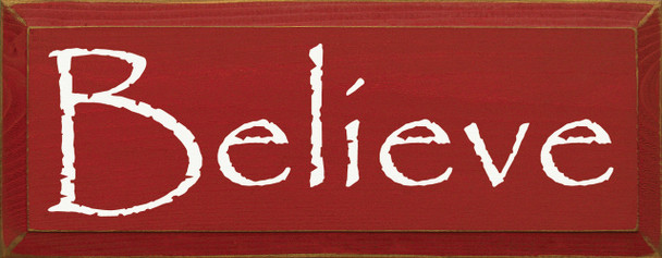 Believe (New)|Believe Wood Sign| Sawdust City Wood Signs