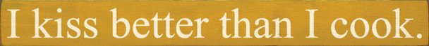 Shown in Old Mustard with Cream lettering