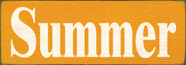 Shown in Old Tangerine with Cottage White lettering