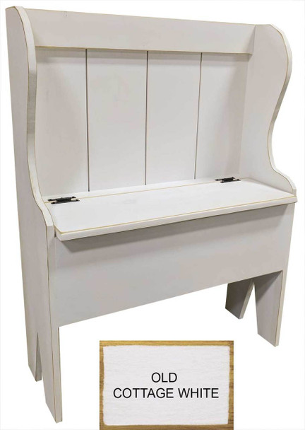 Rustic Storage Bench | Deacon Bench Retail | In Old Cottage White