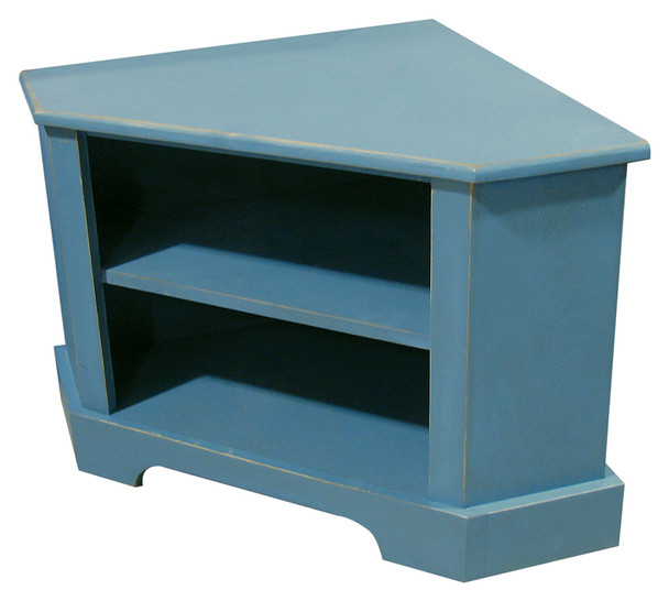 Home Decor and Storage  | Corner Bench with Storage | In Old Williamsburg Blue