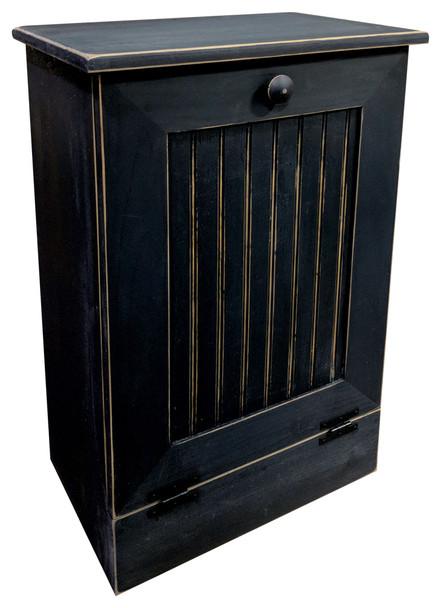 Wood Tilt-Out Trash Bin Shown in Old Black