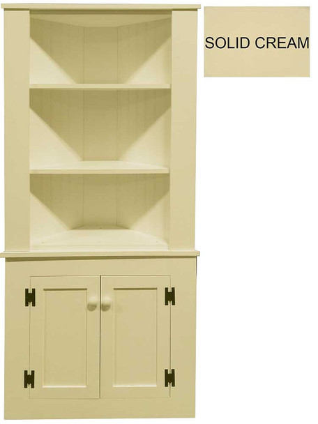 Shown in Solid Cream with beadboard doors (split in two pieces for shipping)