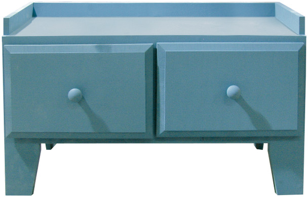 Storage Drawers and Bench | Retail Bench with Drawers | In Solid Williamsburg Blue