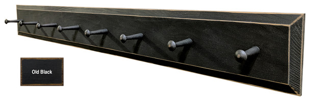 Wood Peg Rack - Shown in Old Black