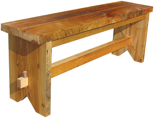 Reclaimed barn wood is coated with a sealant - color and detail vary with every piece