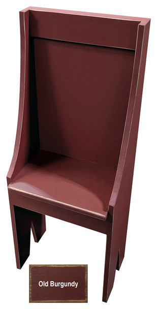 Small Primitive Chair - Shown in Old Burgundy