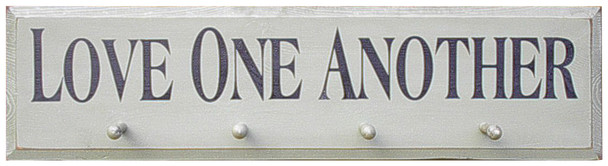 Shown in Old Cottage White with pegs and lettering from a 9x36 sign