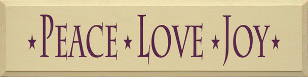 Peace Love Joy (large) | Wood Sign With Peace Saying | Sawdust City Wood Signs