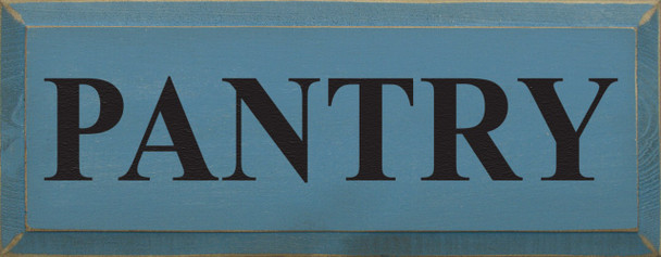 Shown in Old Williamsburg Blue with Black lettering