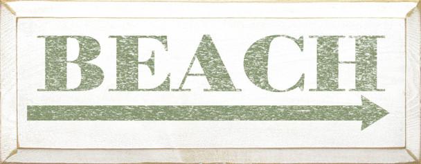 Beach (rightarrow) | Beach Wood Sign| Sawdust City Wood Signs