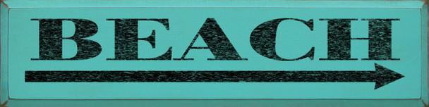 Beach (large) (right arrow) | Beach Wood Sign| Sawdust City Wood Signs