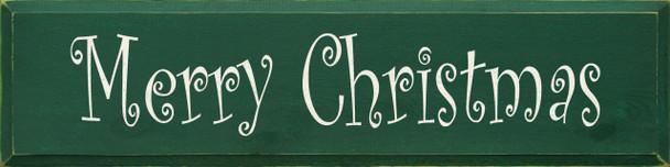 Merry Christmas (Curlz) (large)   Seasonal Wood Sign  Sawdust City Wood Signs