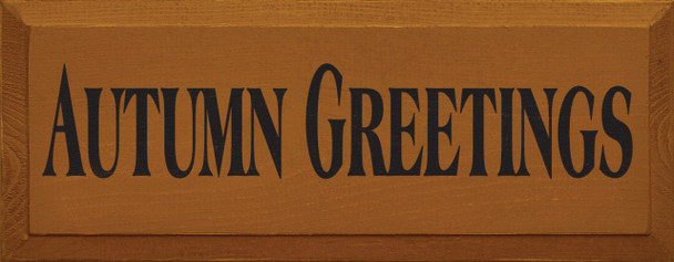 Autumn Greetings | Fall Wood Sign | Sawdust City Wood Signs