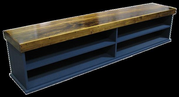 CUSTOM - Extra-Wide Cubby Bench & Shelf | Custom Pine Bench | Sawdust City Custom Furniture