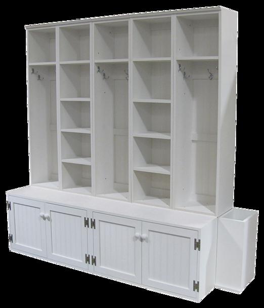 CUSTOM - Mudroom Unit with Umbrella Stand | Custom Pine Storage | Sawdust City Custom Furniture