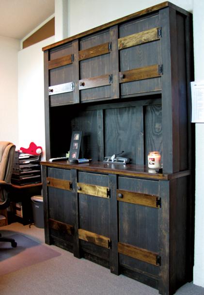 CUSTOM - Office Filing Hutch   Custom Pine Hutch   Sawdust City Custom Furniture