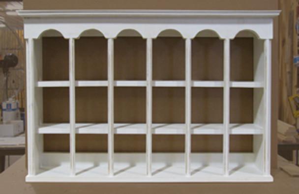 CUSTOM - Teacup Display Shelf   Custom Pine Shelf  Sawdust City Custom Furniture