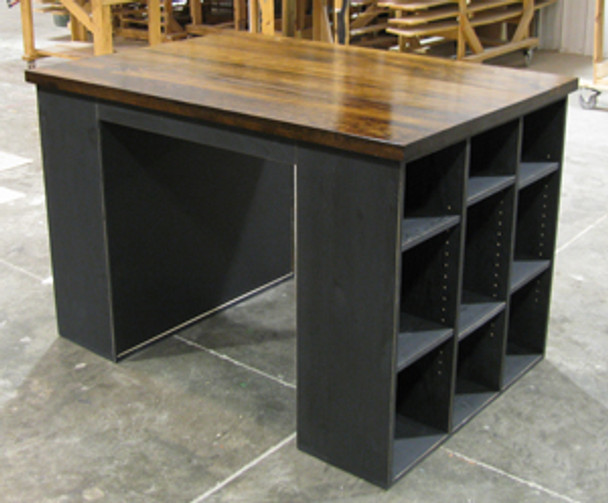 Shown in Old Black with a Walnut & Poly top