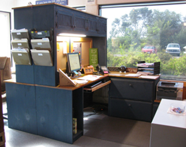 CUSTOM - Dual Office Desk | Custom Wood Desk | Sawdust City Custom Furniture