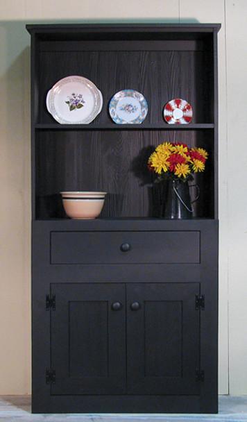 CUSTOM - Plate Display Hutch | Custom Pine Hutch | Sawdust City Custom Furniture