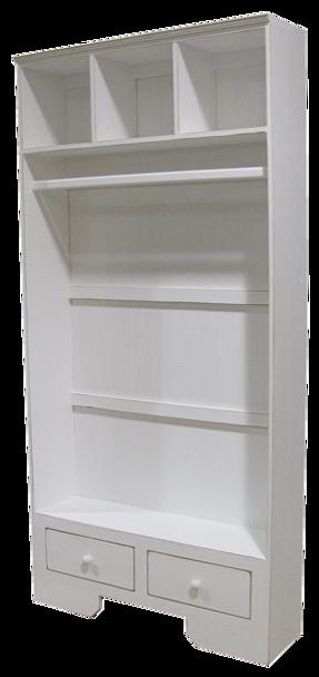 CUSTOM - Extra-Wide Locker with Hanging Rod   Custom Wood Locker   Sawdust City Custom Furniture