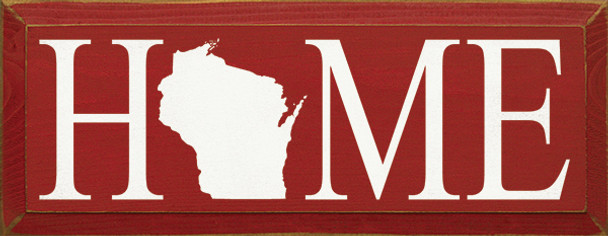 Shown in Old Red with Cottage White lettering (Wisconsin)