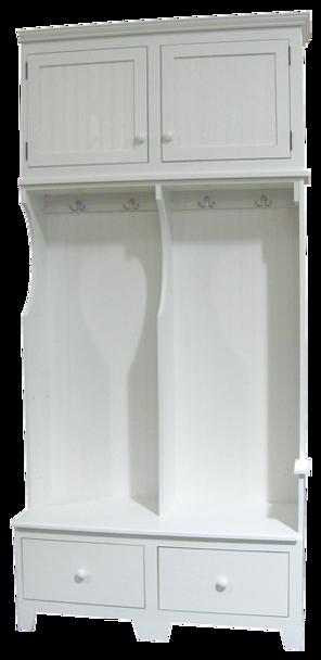 CUSTOM - 2-Drawer Wide Locker Combo | Custom Pine Lockers| Sawdust City Custom Furniture