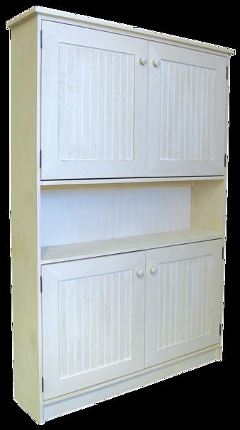 CUSTOM - 4 ft. Hutch with Doors | Custom Pine Hutch | Sawdust City Custom Furniture